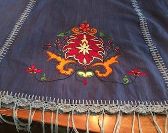 Vintage Boho Skirt, Made in Nepal
