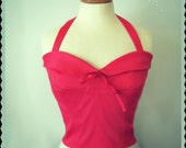 Swell Dame 1950s bustier sun top with adjustable straps Made To Order in your measuremments and  in ANY Color