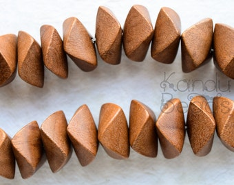 hambabalud Wood Beads Large, Geometric Shape, Wooden Garland Beads 10357