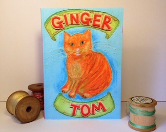 Ginger Cat - Ginger Tom - Ginger Cat Greeting Card - Cat Love - Cards For Cat Lovers