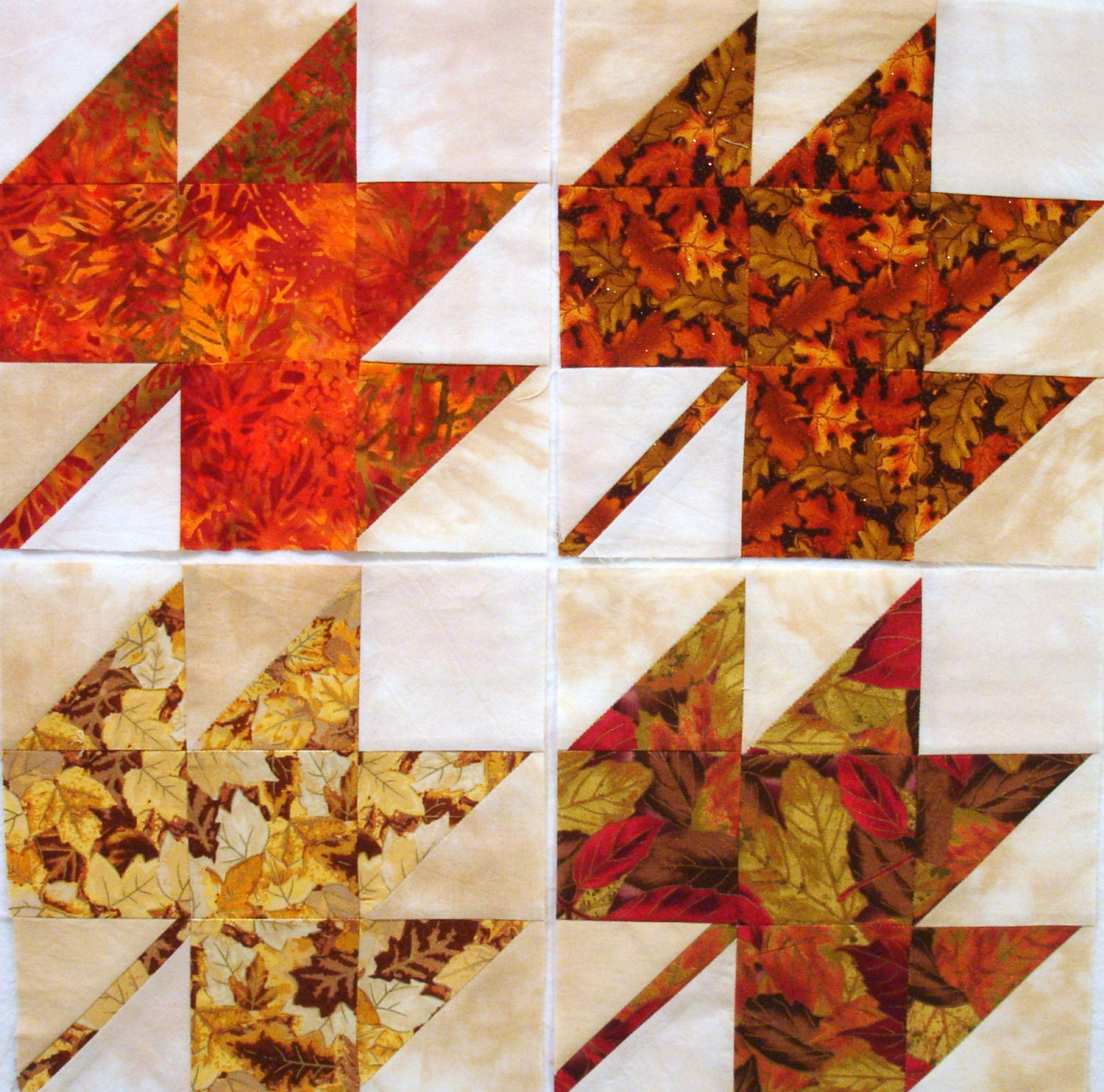 Autumn Leaves Quilt Blocks
