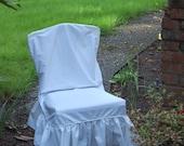 White Parson Slip Covers Set of 6