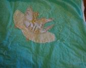 Lotus on Water Throw Blanket 58 x 80