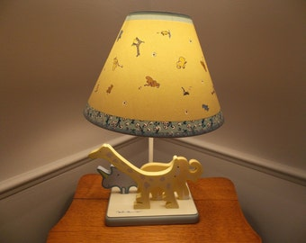 Rare Finding Safari Animals Lamp and Shade by Yoko Ono Lennon