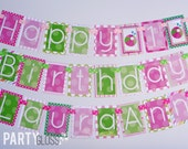 Pink and Green Beach Ball Birthday Party BannerDecorations Fully Assembled