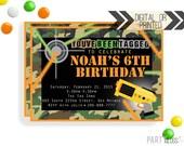 Laser Tag Invitation | Laser Tag Invites | Digital or Printed | Camo Party | Laser Tag Printables | Lazer Tag Birthday | Laser Tag Camo