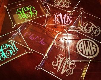 Monogram Acrylic Tray - 3 sizes