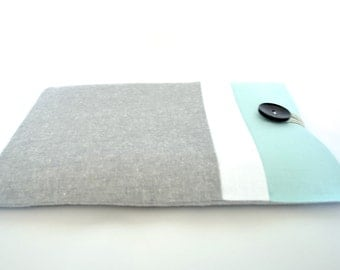 "14 inch Laptop Sleeve, 15.6 Computer Case, MacBook Pro 13.3"", 15.4"" Retina Display MacBook - Aqua Gray"