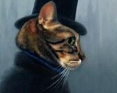 "Mr. Hyde 11x14 Giclee Print of Orginal Oil Painting in 16x20"" Cut Mat"