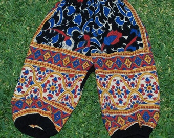 Hippie Harem Kids-size 3-Red Blue Sunflower -Girls or Boys