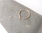 RESERVED 14k Gold 20g 7mm Small Cartilage Hoop Earring, Balled, for Nose or Ear Piercing
