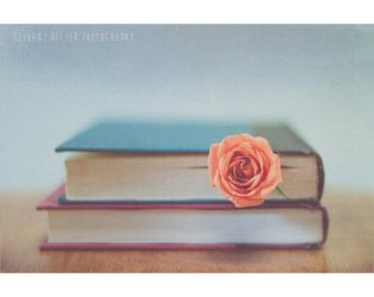 Book Photography, Reading, Book Love, Still Life Photography, Library, Read, Shabby Chic, Book Print, Gift for Book Lovers, Rustic,Librarian