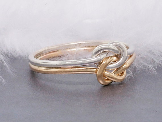 simple promise ring 14k gold engagement ring knot