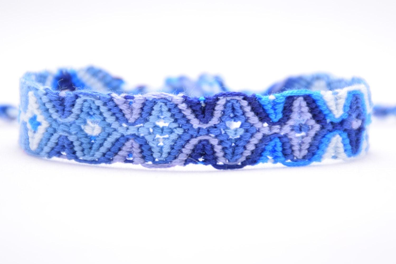 Embroidery Friendship Bracelet Sleeping Tikis In Blue