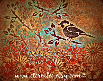Bird on a Branch Art Print 8x10