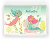 TRAY - Personalized mermaid melamine tray for kids