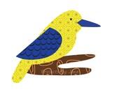 Kingfisher applique template | PDF applique pattern | applique template