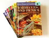 Vintage 1960s Cookbook / Complete Set Better Homes and Gardens Creative Cooking Library Series VGC / Retro Fabulous Recipes and Photos