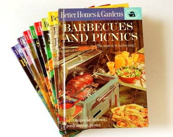Complete Set Better Homes and Gardens Creative Cooking Library Series 60s VGC / Retro Fabulous Recipes and Photos
