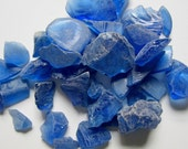 Beach Decor Sea Glass - Nautical Decor Beach Glass in Dark Blue -  2 POUNDS