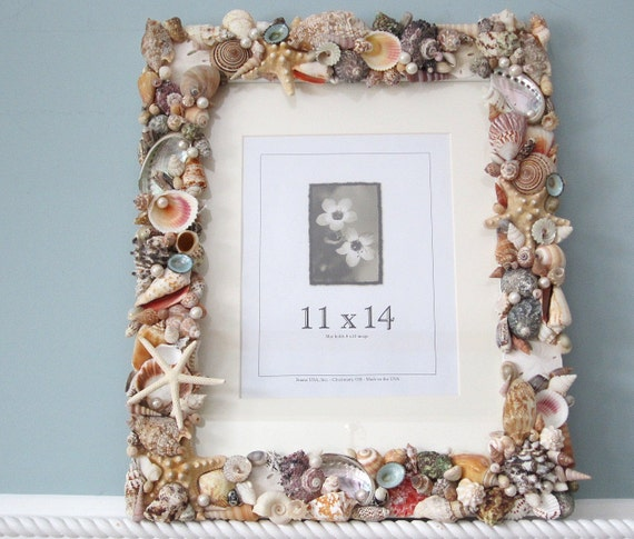 Seashell Wall Frame Beach Decor Shell Wall By