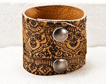Best of Etsy Cuff Bracelet Unique Jewelry Wrist Cuffs - Boho Bracelet Rustic Primitive Fashion - Original Rainwheel Art