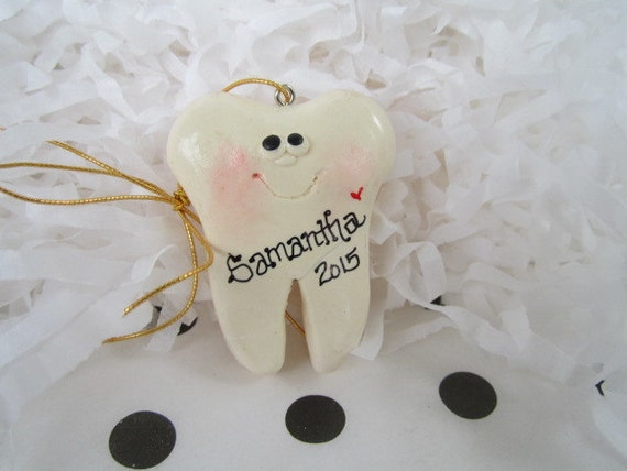 Personalized Tooth Christmas Ornament dentist ornament
