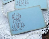 Birthday and Party Place Cards Food Buffet Label Tags Puppy Dog Set of 10