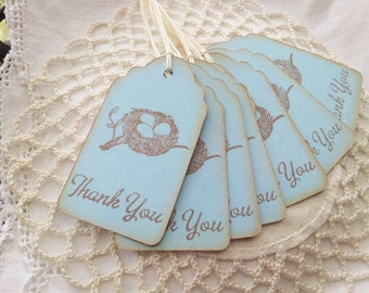 Baby Shower Thank You Tags Set of 8