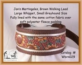 Jansmartigales Brown Large Whippet, Small Greyhound, Martingale Collar Leash Combination, wbrn029