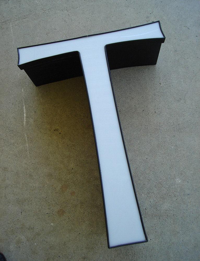 t letter large capital wall decor white decorative type. Black Bedroom Furniture Sets. Home Design Ideas