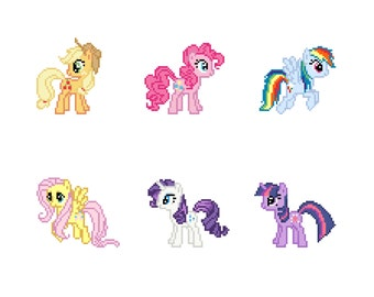 The Mane Six (My Little Pony: Friendship Is Magic) - Cross Stitch Pattern