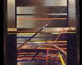 Fiber Art, large Wall Hanging, Art Quilt, non-traditional quilt, collage art, fiber collage, Textile art
