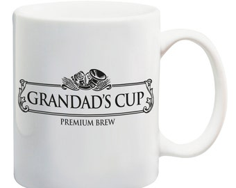 Grandad's Cup Black Label ceramic coffee mug tea cup