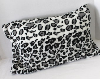 Fits 12 x 16 Pillow Minky Toddler Pillow Case Leopard Print Minky Pillowcase Youth Pillow Case Travel Size Pillow Cover