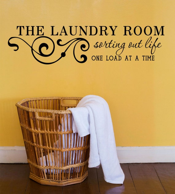 Https Www Etsy Com Listing 238241391 The Laundry Room Vinyl Wall Decal