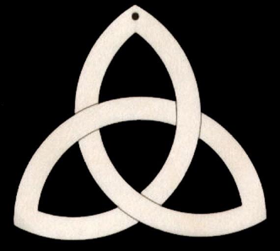 Celtic Knot Symbol  Natural Craft Wood Cutout 431