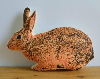 Plush Bunny Pillow