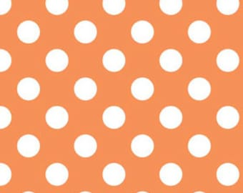 Orange Medium Dots Fabric by Riley Blake Designs - by the Yard - 1 Yard - Orange Dots