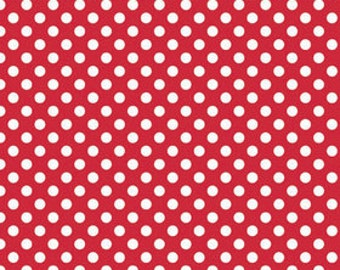 Red Small Dots Fabric by Riley Blake Designs - By the Yard - 1 Yard - C350-80