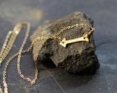arrow necklace, gold arrow necklace, dainty gold necklace, delicate gold necklace, small gold arrow, wedding necklace bridesmaids gift, love