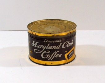 Coffee Can, Maryland Club Coffee