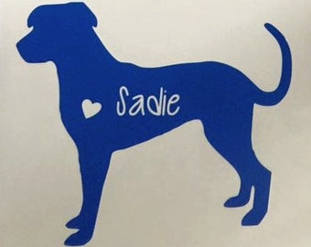 Catahoula Dog Car Decal