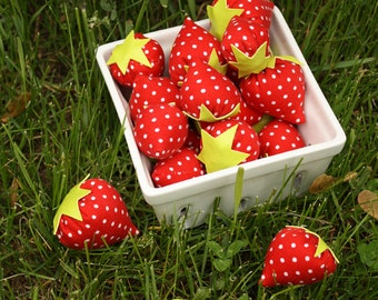 Sweetest Strawberries Recycled Fabric Play Food