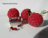 Punnet of loose cherries  - 1/12 Handmade miniature food