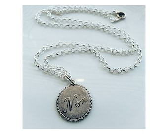 Non silver necklace - non is french for no