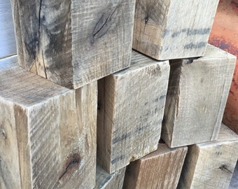 Pallet Wood Blocks, Weathered Wooden Blocks