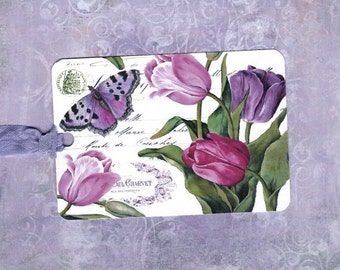 Tags, Spring Tulips, Gift Tags, Tulip Gift Tags, Butterfly