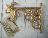 birdfeeder hook moose wall hook planter hook garden hook planter hanger shabby chic metallic gold hook whimsical decor