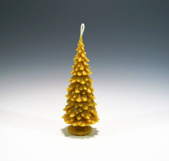 Beeswax Christmas Tree Candle Beeswax Candle Christmas Tree Holiday Candle Christmas Candle